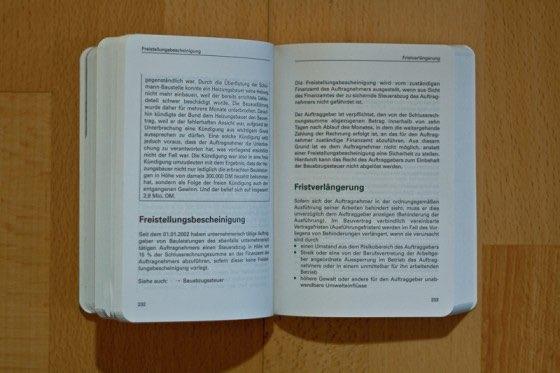 Auszug Taschenbuch VOB