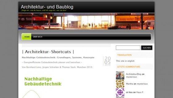 Architektur und Baublog